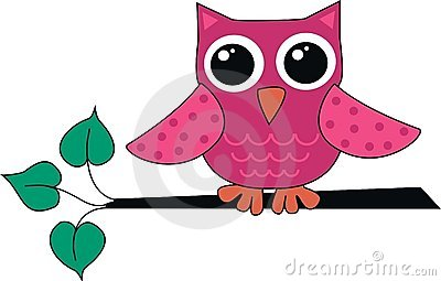 逗人喜爱的小猫头鹰粉红色