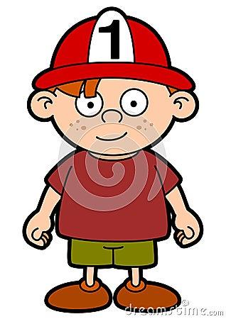 儿童图画消防员盔甲s向量宽度