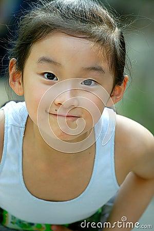儿童中国人微笑 库存图片