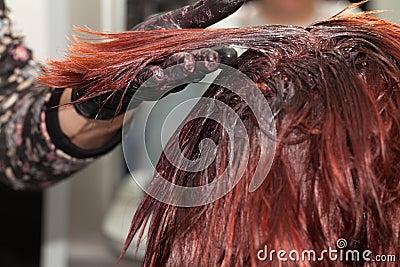 头发染色 库存照片 - 图片