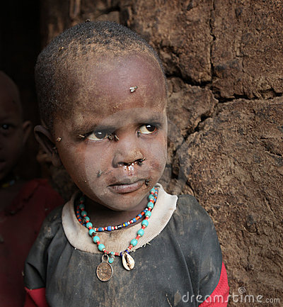 非洲儿童贫民窟