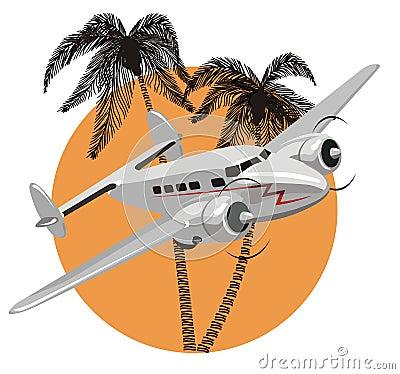 飞机动画片减速火箭的向量