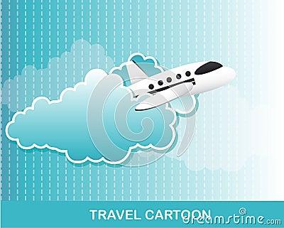 飞机动画片 免版税库存照片
