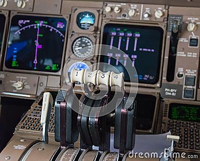 飞机驾驶舱仪器 库存照片