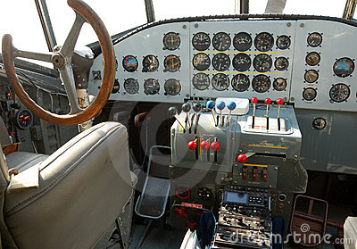 飞机驾驶舱 图库摄影