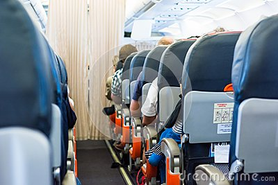 飞机内部 库存照片 - 图片