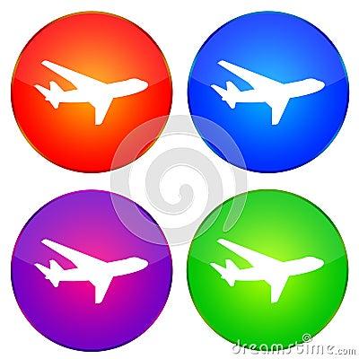 飞机图标 免版税库存图片