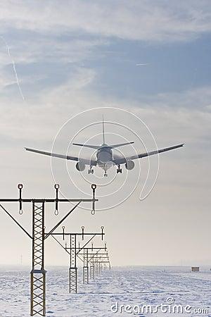 飞机适应多雪喷气机的着陆