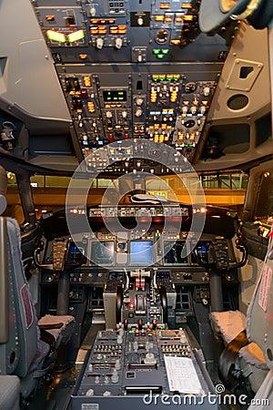 飞机座舱内部 编辑类库存照片