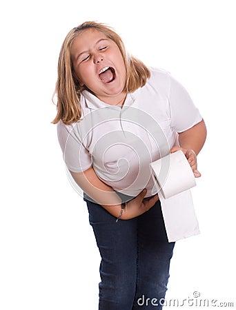 背景腹泻女孩藏品查出纸洗手间空白年轻人