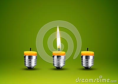 给蜡烛打蜡到电灯泡