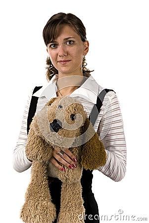 狗女孩玩具 库存图片