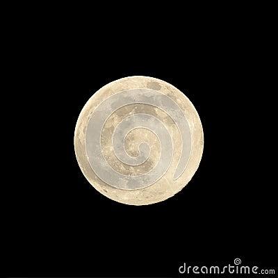 关闭超级月亮在2014年8月反对黑背景