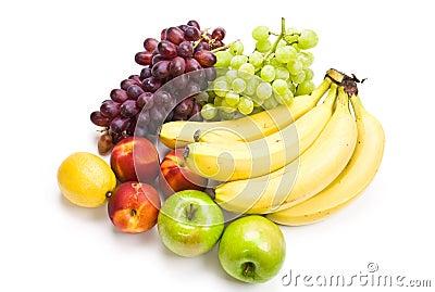苹果香蕉葡萄智力_苹果香蕉果子 葡萄 柠檬混合油桃