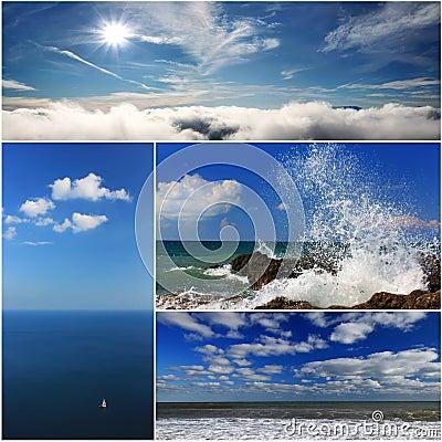 海风景拼贴画 库存图片