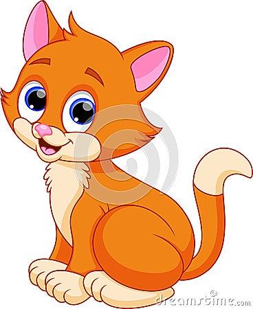 滑稽的猫动画片 库存例证图片
