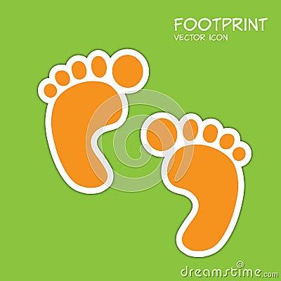 背景脚印绿色图标符号向量