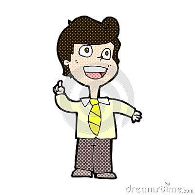 举手的可笑的动画片男生图片