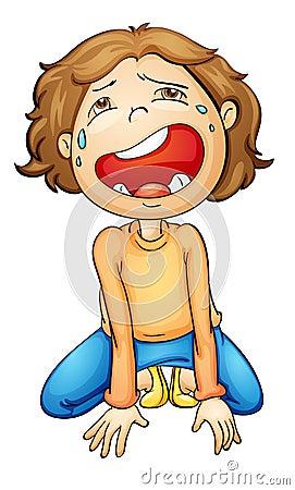 女孩哭泣的例证