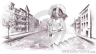 浪漫手绘铅笔画
