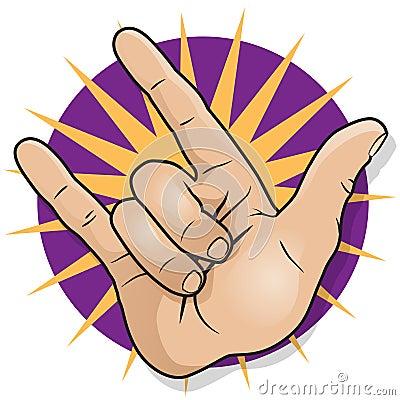 流行艺术样式打手势经典摇滚乐拳头泵浦的手标志的图片