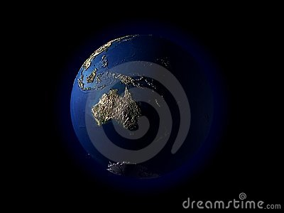¼ Oceanía del terrainï del ¼ del earthï 3D