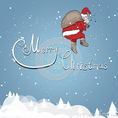 Santa Claus on a background Stock Photo