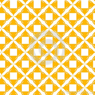 Yellow pattern on white background. Seamless pattern. Abstract. Vector Illustration