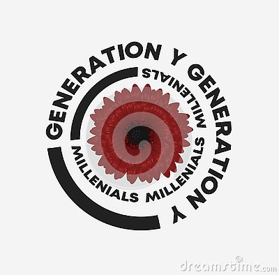 Generation Y slogan dahlia illustration. Perfect for home decor such as posters, wall art, tote bag, t-shirt print, sticker. Vector Illustration