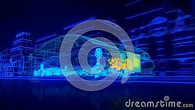 À l'intérieur de la transmission automobile d'aperçu de fil, moteur, suspension, roues