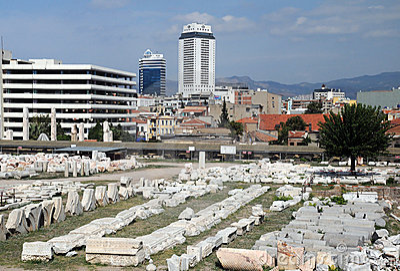 Ágora antiga em Izmir