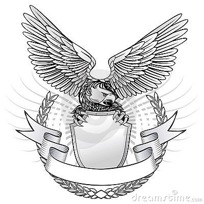 Águila salvaje coa alas