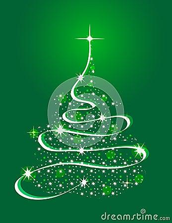 Árbol de navidad con las estrellas