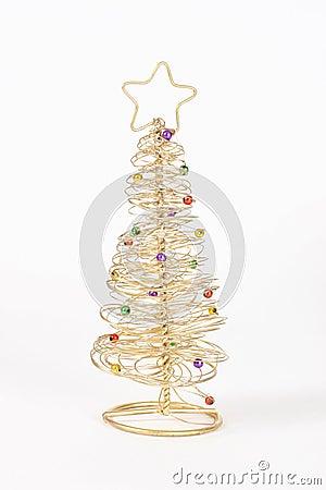 Rbol de navidad del alambre fotos de archivo libres de - Arbol de navidad de alambre ...