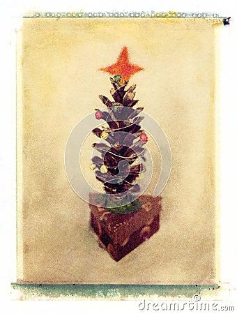 árbol de navidad del Pino-cono