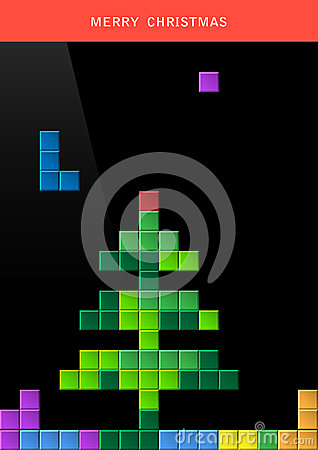 Árbol de navidad en la pantalla de ordenador del juego