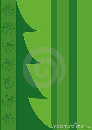 Árbol de navidad, rectángulos de regalo