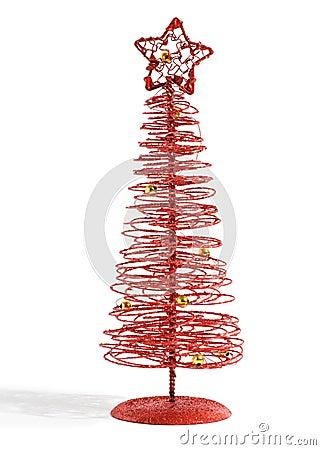 Rbol de navidad rojo festivo moderno im genes de archivo libres de regal as imagen 36178819 - Arbol navidad moderno ...
