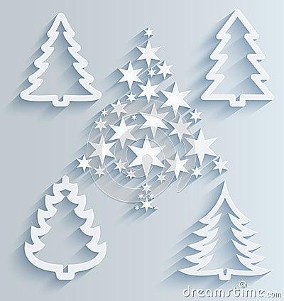 Rboles de navidad decoraciones de papel del d a de - Decoracion navidad papel ...