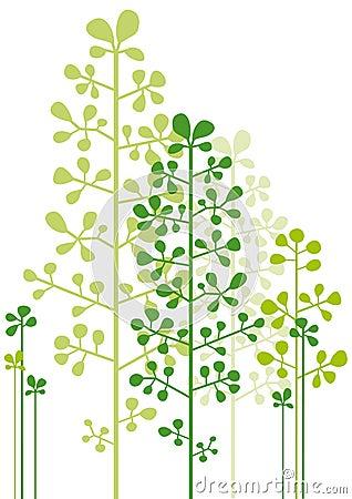 Árboles verdes abstractos