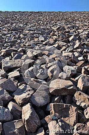 Área da construção na pedra