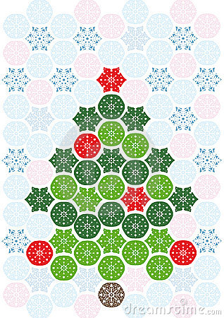 Árvore de Natal abstrata do mosaico