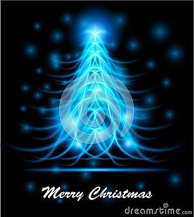 Árvore de Natal abstrata moderna, eps 10