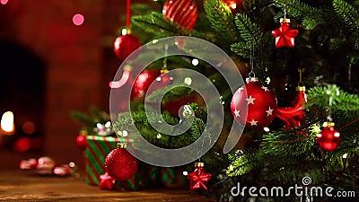 Árvore de Natal com Decorações video estoque