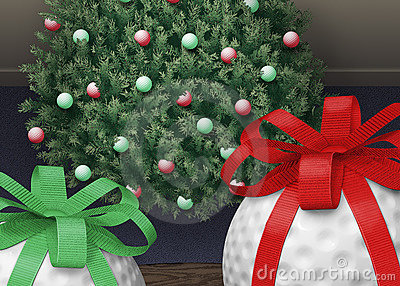 Árvore do Xmas da esfera de golfe