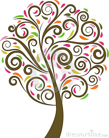 Árvore floral do redemoinho
