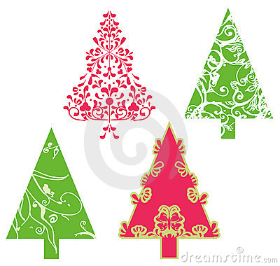 Árvores do vetor do Natal