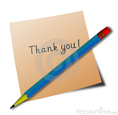 'thank you' message