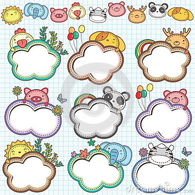 Animal Cloud Frames Set 2