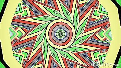 五颜六色的瑜伽的彩虹万花筒无缝的坛场分数维装饰品